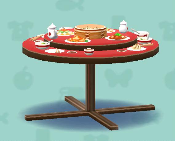 ポケ森の中華テーブル