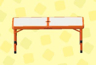 あつ森のアウトドアテーブルのレッド