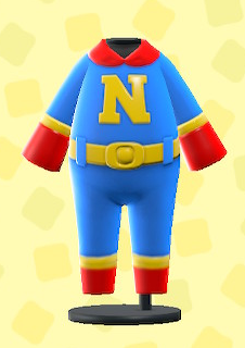 あつ森のスーパーヒーロースーツのブルー