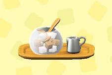 あつ森のシュガー&ミルクのブラウン