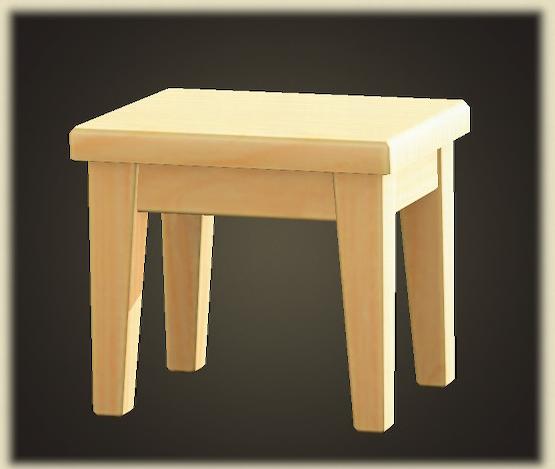 あつ森のもくせいミニテーブル
