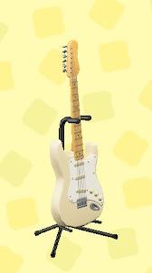 あつ森のエレキギターES1のシックホワイト
