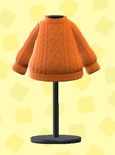 あつ森のアランセーターのオレンジ