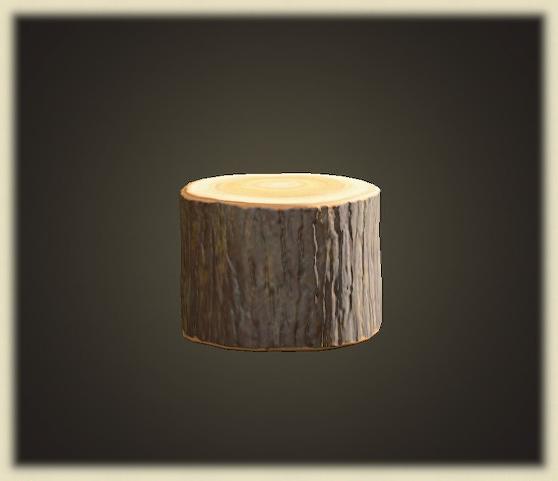 あつ森の丸太のスツール