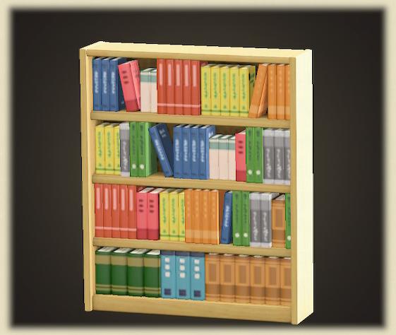 あつ森の木製の本棚