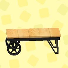 あつ森のアイアンウッドローテーブルのバーチ
