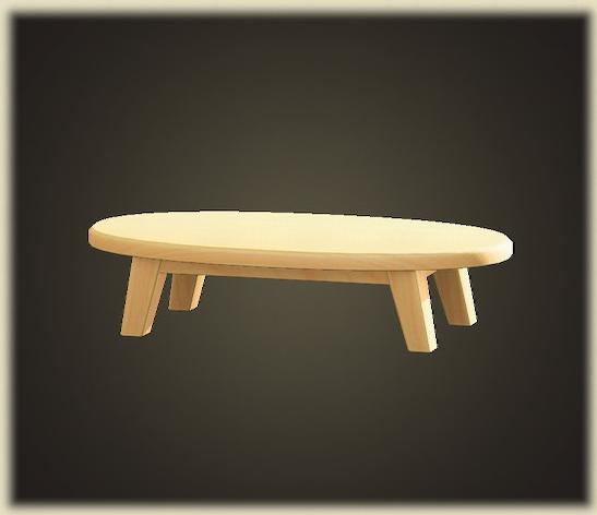 あつ森の木製ローテーブル