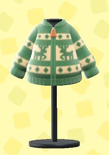 あつ森のトナカイセーターのグリーン