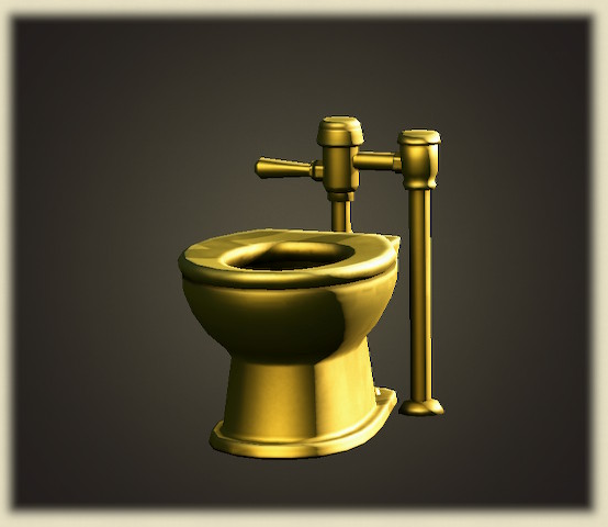 あつ森のおうごんのトイレ