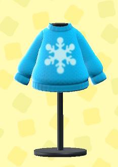 あつ森のけっしょうのセーターのライトブルー