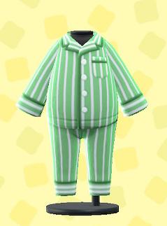 あつ森のパジャマのグリーン