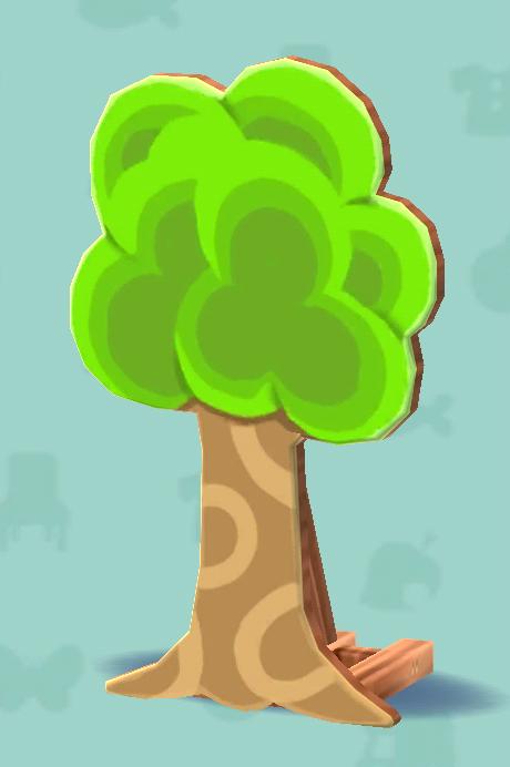 ポケ森のハリボテの木