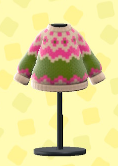 あつ森のノルディックなセーターのベージュ