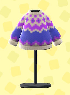 あつ森のノルディックなセーターのライトグレー