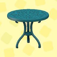 あつ森のアイアンガーデンテーブルのブルー