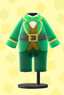 あつ森のシャムロックスーツ
