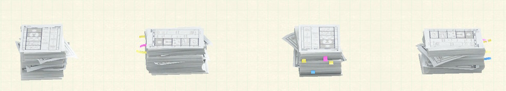 あつ森のしょるいのやまのリメイク絵コンテパターン