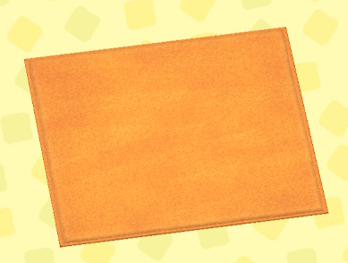 あつ森のオレンジのシンプルマット・M