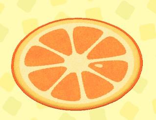 あつ森のオレンジのラグ