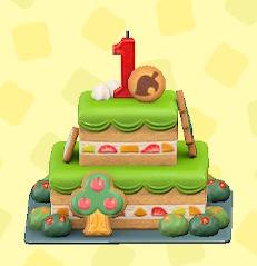 あつ森の1stアニバーサリーケーキ