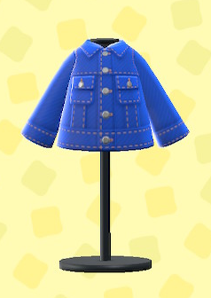 あつ森のデニムジャケットのブルー