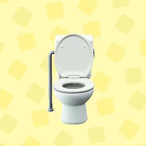 あつ森のようしきトイレのホワイト