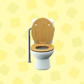 あつ森のようしきトイレのナチュラルウッド