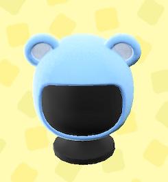 あつ森のクマのかぶりもののブルー
