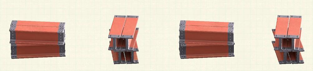 あつ森の鉄骨のリメイクレッドパターン