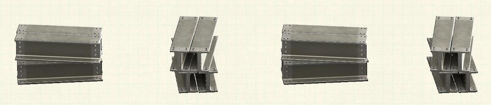 あつ森の鉄骨のリメイクグレーパターン