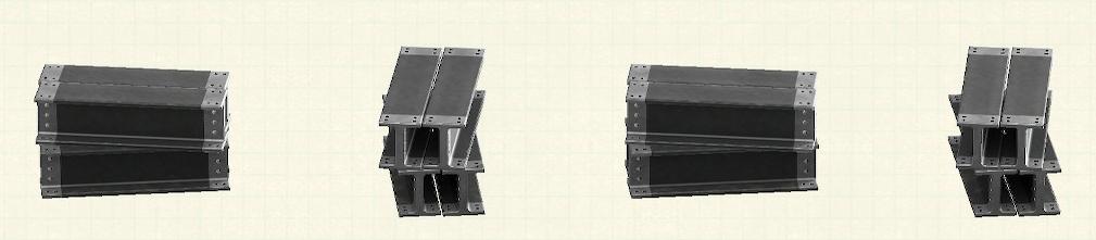 あつ森の鉄骨のリメイクブラックパターン