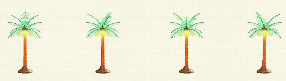 あつ森のパームツリーランプのナチュラルパターン
