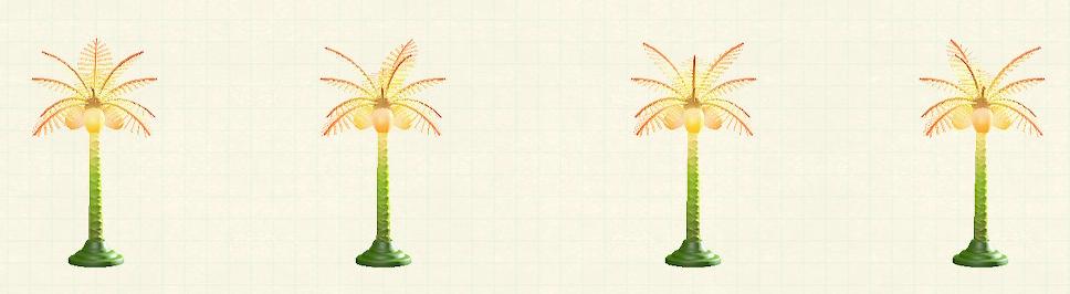 あつ森のパームツリーランプのトロピカルパターン