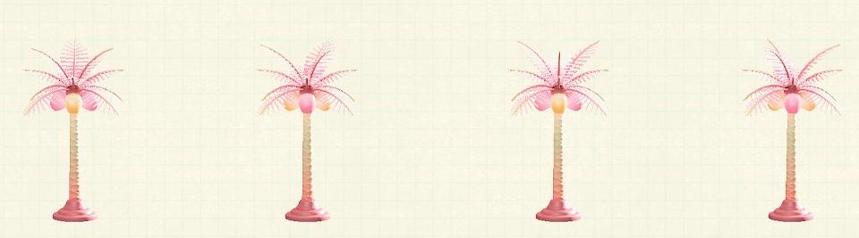 あつ森のパームツリーランプのキュートパターン