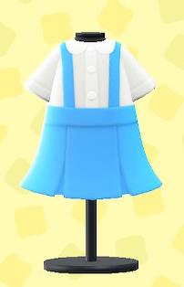 あつ森のつりスカートのブルー