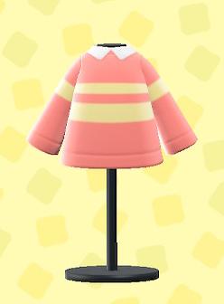 あつ森のすこやかなセーターのピンク