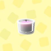あつ森のガラスのキャンドルホルダーのピンク