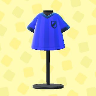 あつ森のサッカーのユニフォームのブルー