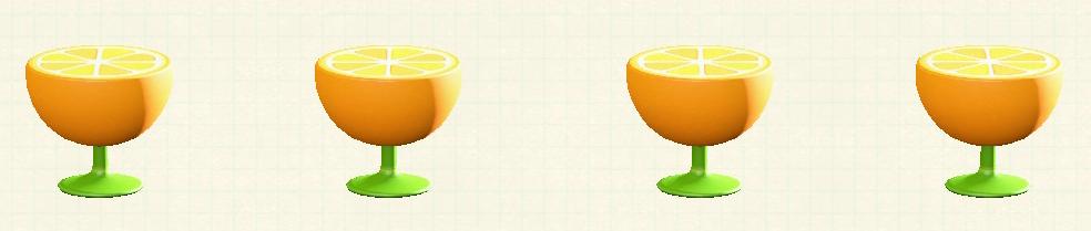 あつ森のオレンジのサイドテーブルのオレンジパターン