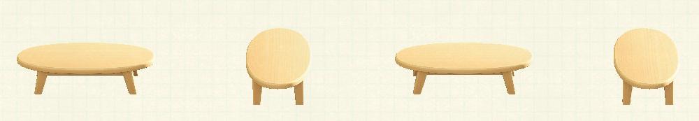 あつ森の木製ローテーブルのリメイクライトウッドパターン