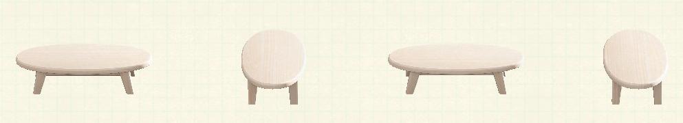 あつ森の木製ローテーブルのリメイクホワイトウッドパターン