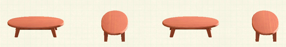 あつ森の木製ローテーブルのリメイクチェリーウッドパターン