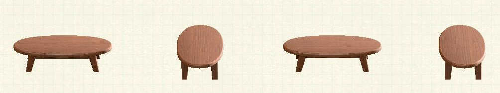 あつ森の木製ローテーブルのリメイクダークウッドパターン
