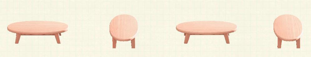 あつ森の木製ローテーブルのリメイクピンクウッドパターン