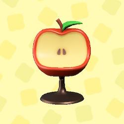 あつ森のリンゴのチェアの赤リンゴ