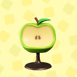 あつ森のリンゴのチェアの青リンゴ