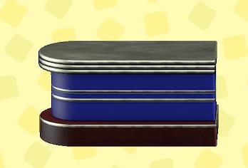 あつ森のダイナーなカウンターテーブルのブルー