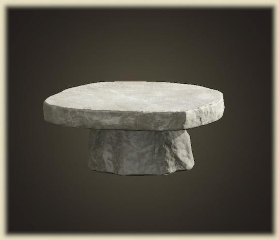 あつ森のいしのテーブル