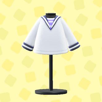 あつ森のセーラーシャツのホワイト