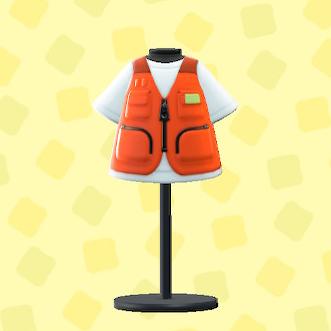 あつ森のつりジャケットのオレンジ